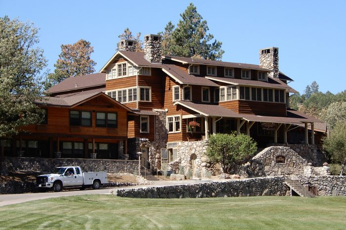 Custer, South Dakota. U.S.A. September 12, 2018. Custer State Park State Game Lodge built circa 1920. Summer White House to President Calvin Coolidge 1927 and President Dwight Eisenhower June 1953.