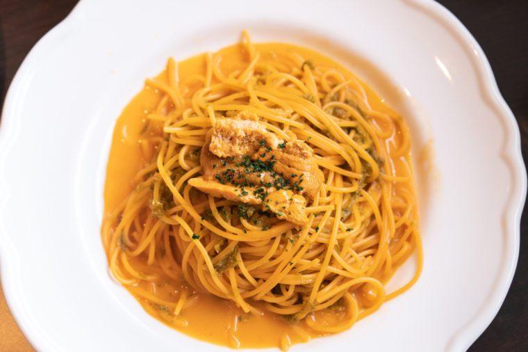 very delicious uni pasta
