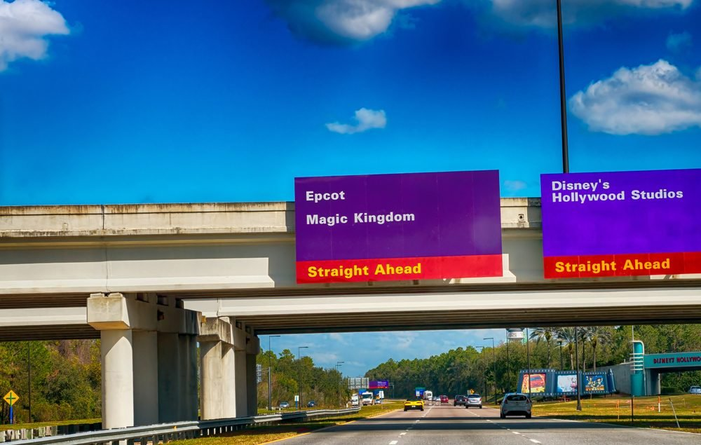 disney purple traffic signs