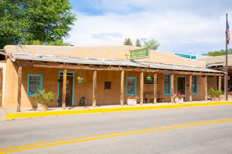 Historic Kit Carson Home and Museum in Taos, New Mexico, USA, 08-18-2018