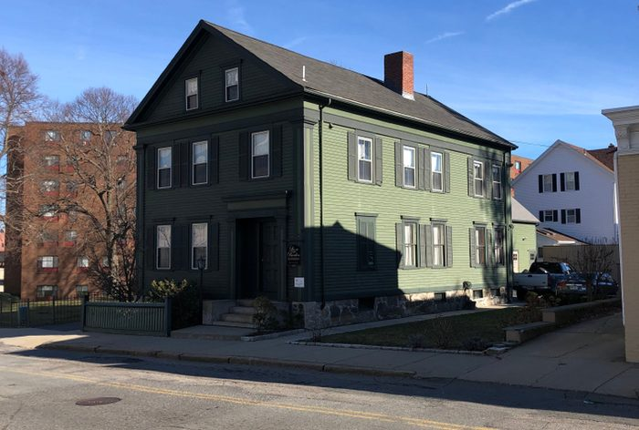 Lizzie Borden's house in Fall River, MA
