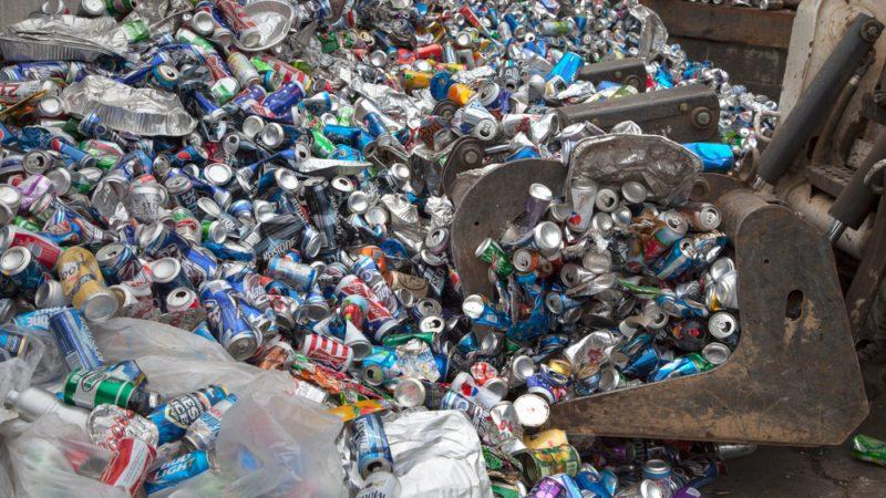 aluminum at recycling facility