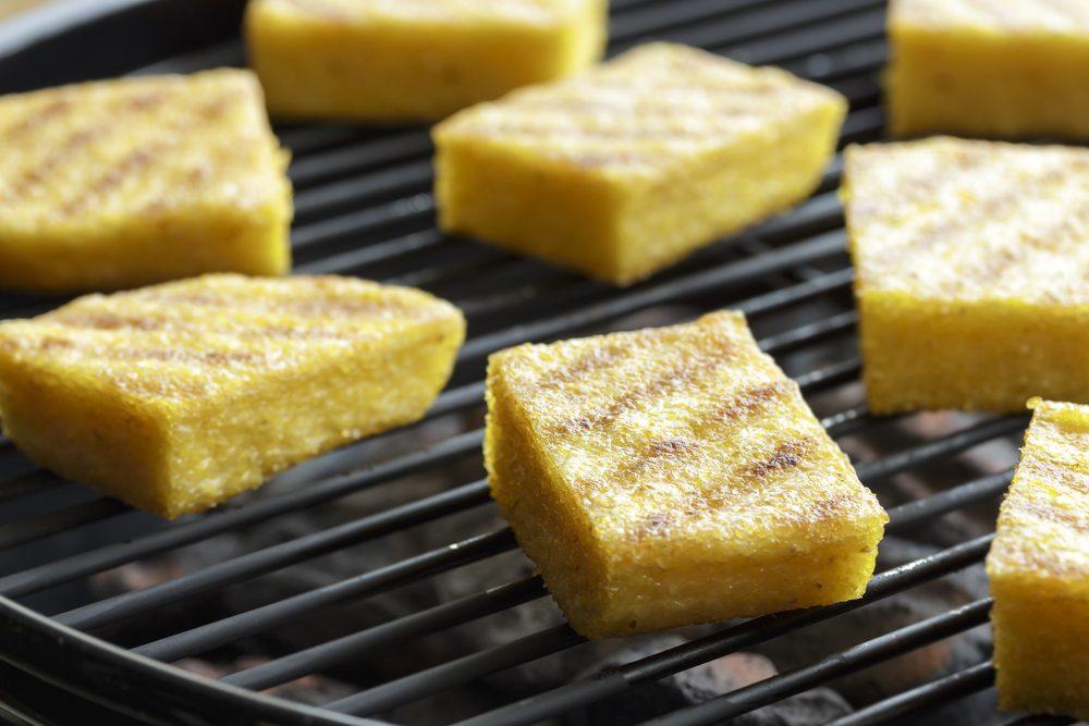 polenta on grill