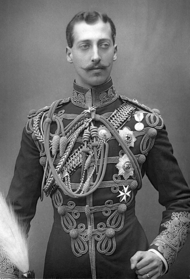 History Albert Victor, Duke of Clarence (1864-1892) Eldest son of Edward, Prince of Wales (Edward VII) in military uniform. English prince, grandson of Queen Victoria. Published c1890.