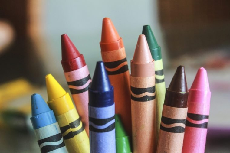 Multicolored Crayons.