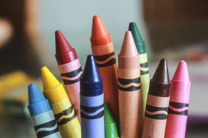 Multicolored Crayons.