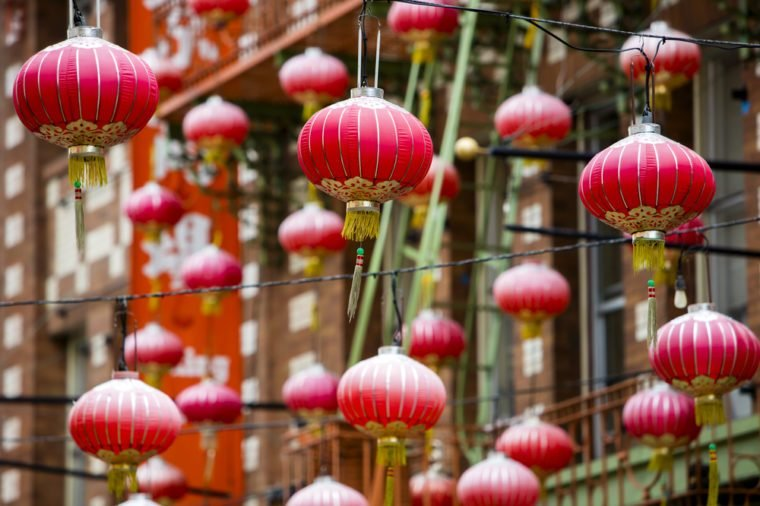 Special lanterns in San Francisco Chinatown district