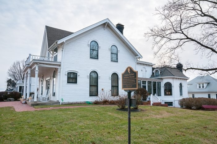 Atchison, Kansas, USA on January 28, 2017. Birthplace of Amelia Earhart in Atchison Kansas.