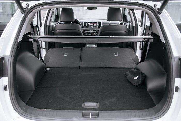 Opened empty car trunk