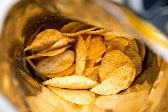 Potato chips is snake in bag, Potato chips in bag