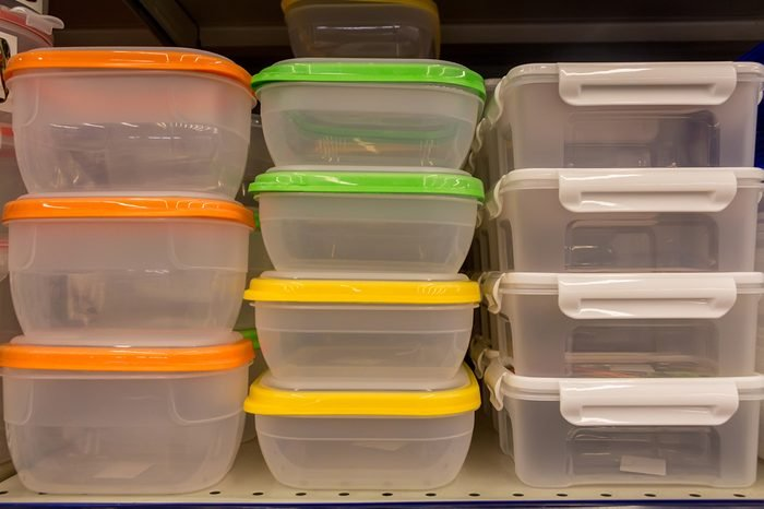 Plastic Food Containers With Colorful Lids