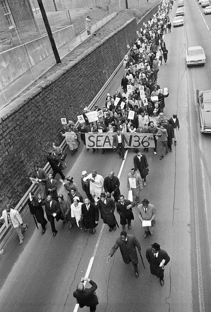 MLK Leads Demonstration, Atlanta, USA