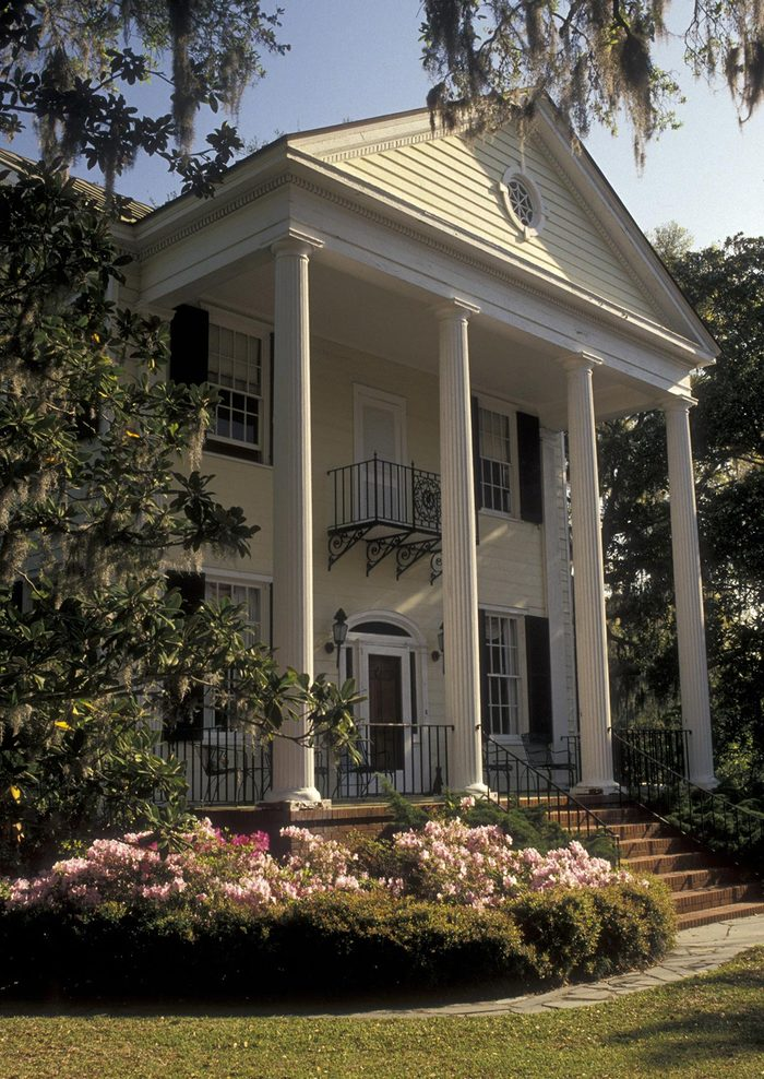 VARIOUS The John Joyner House in the Historic District in the town of Beaufort in the spring, South Carolina