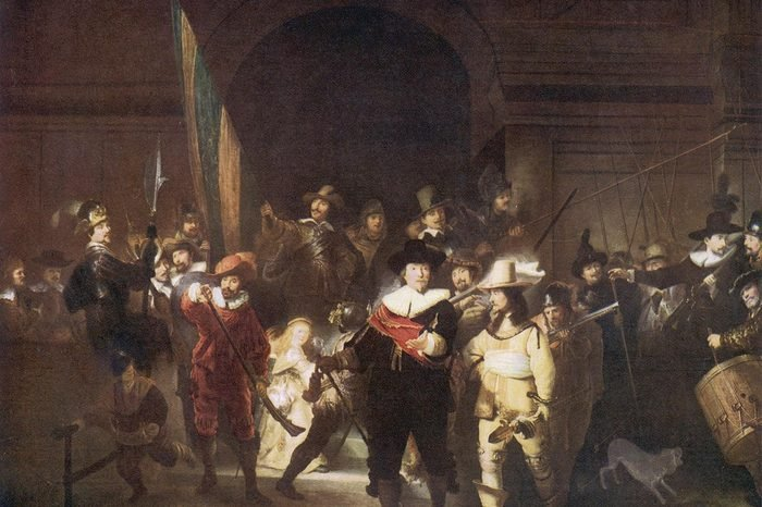Historical Collection 111 The Night Watch by Rembrandt Van Rijn Amsterdam circa 1660