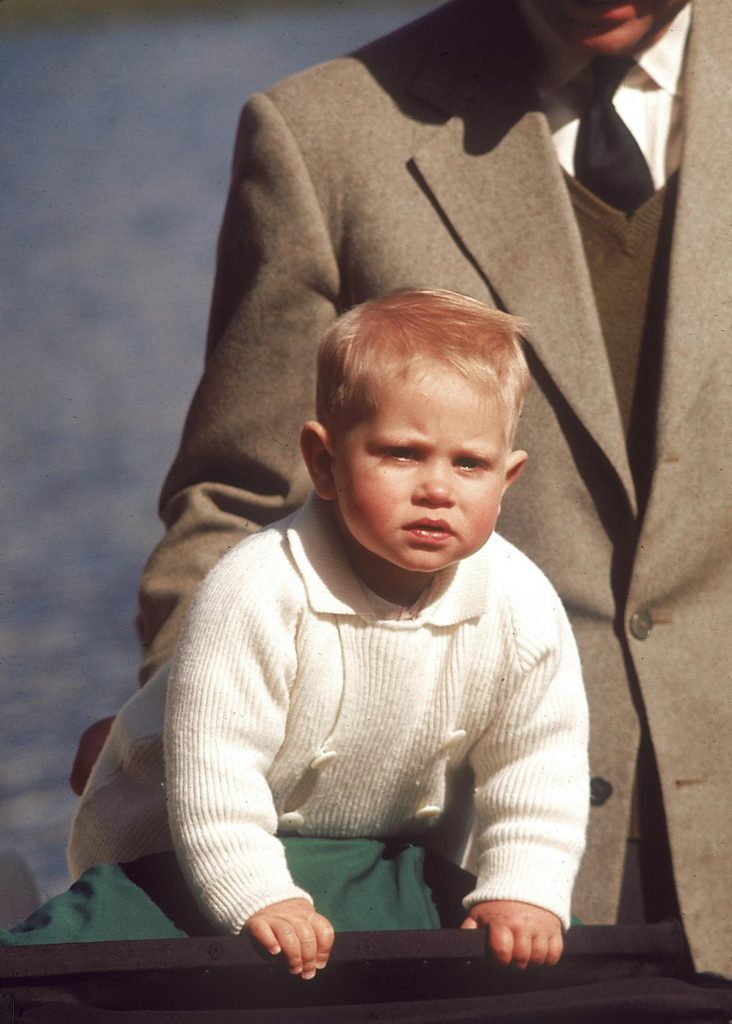 Historical Collection 171 Prince Edward Earl of Wessex Born 1964 Pictured at the Age of 12 Months Supported by His Father Prince Philip 1965