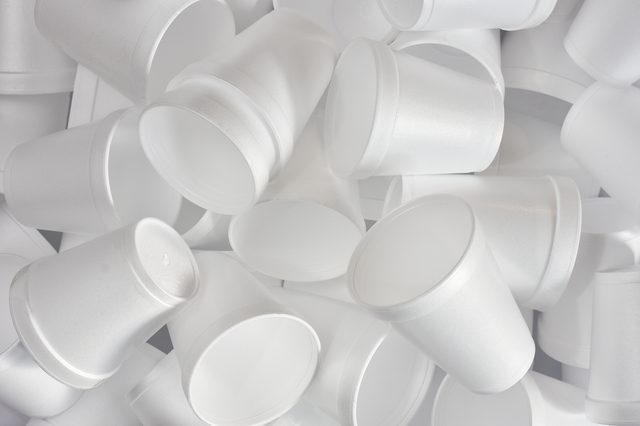Styrofoam Cups Background