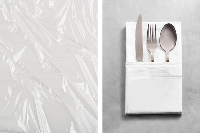 plastic wrap silverware