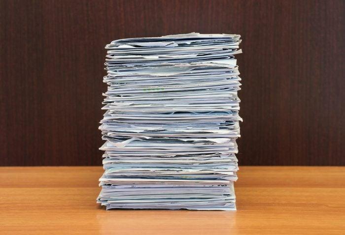 stack of letters in envelopes
