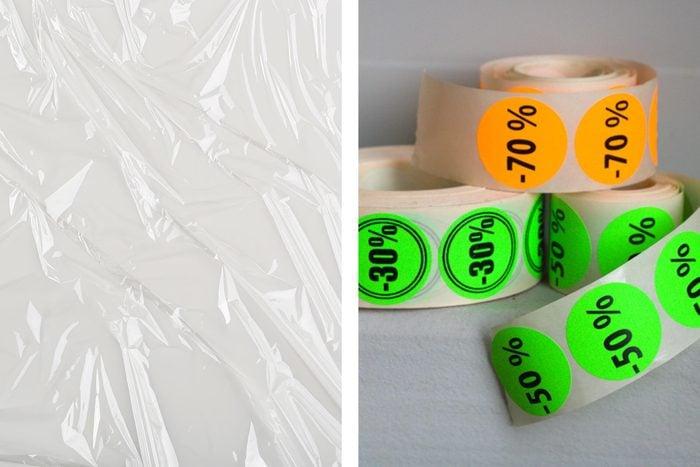 plastic wrap stickers
