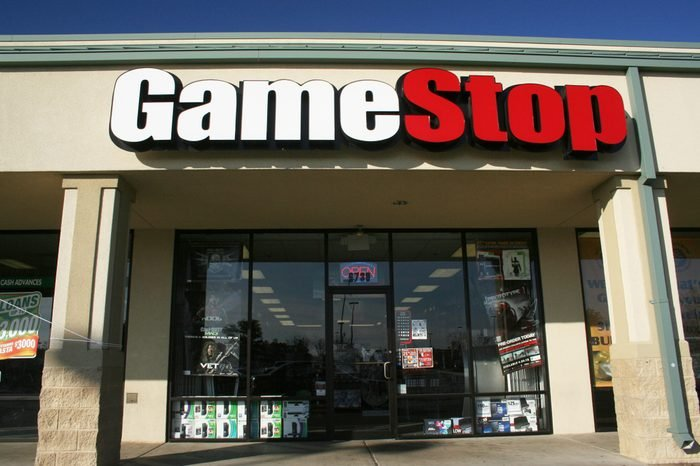 Tyler, TX - January 20, 2012: A GameStop store located in a shopping center on South Broadway in Tyler.