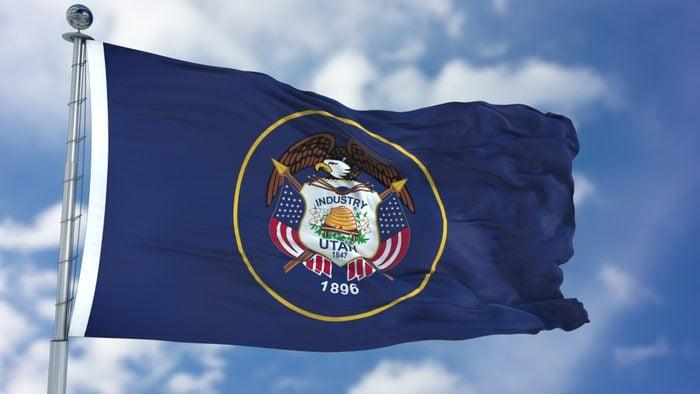 Utah Waving Flag