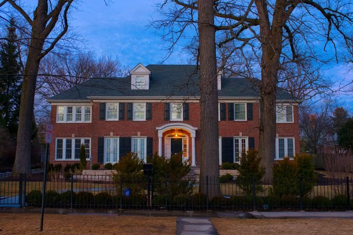 WINNETKA, ILLINOIS, USA - MARCH 2018: The real 'Home Alone' house, the place where the iconic movie was shot