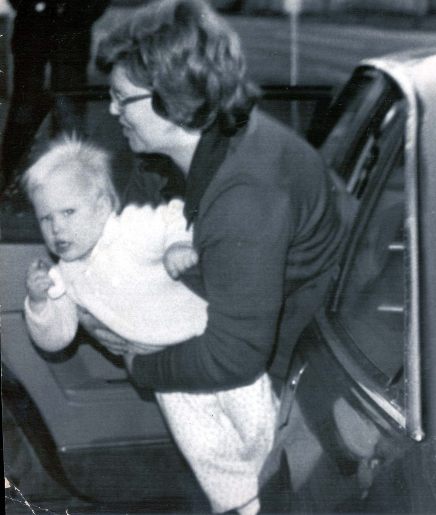 Zara Phillips - Daughter Of The Princess Royal - 16th November 1982 Zara Phillips With Her Nanny Going To Fetch Peter From School....royalty