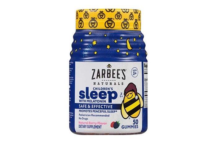 Zarbee's Naturals Children's Sleep with Melatonin Supplement, Mixed Fruit Flavored Gummies for Natural, Restful Sleep*, 50 Gummies (1 Bottle)