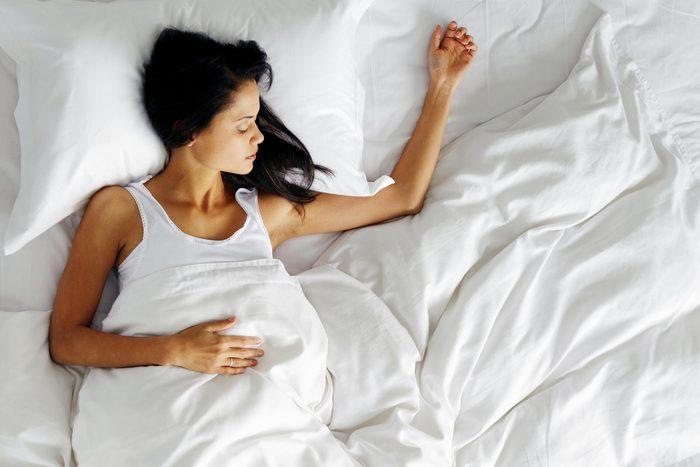 woman sleeping bed