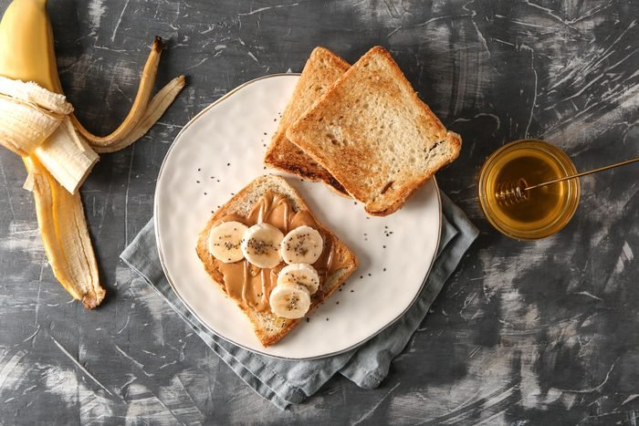 peanut butter honey toast