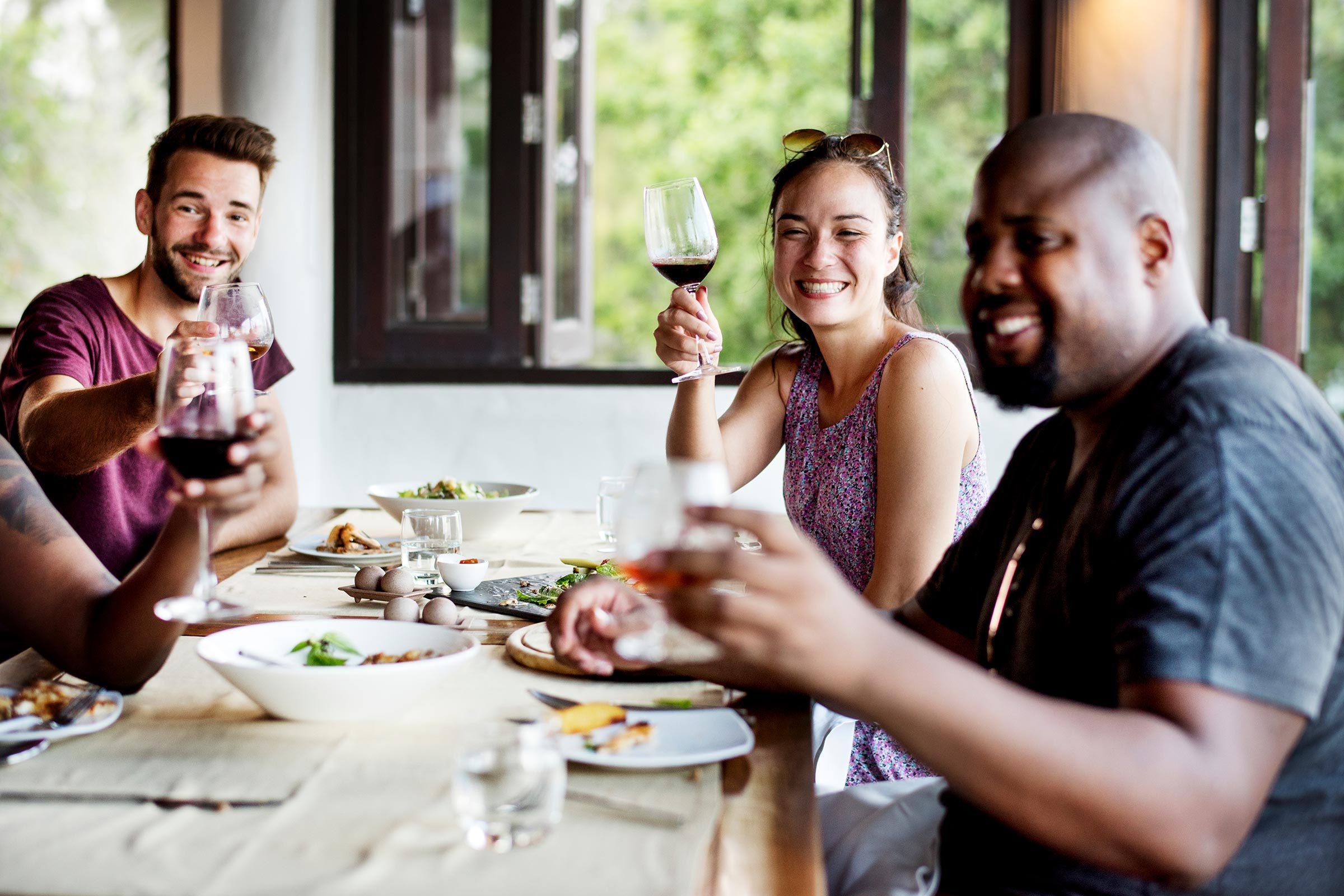 happy hour dinner friends