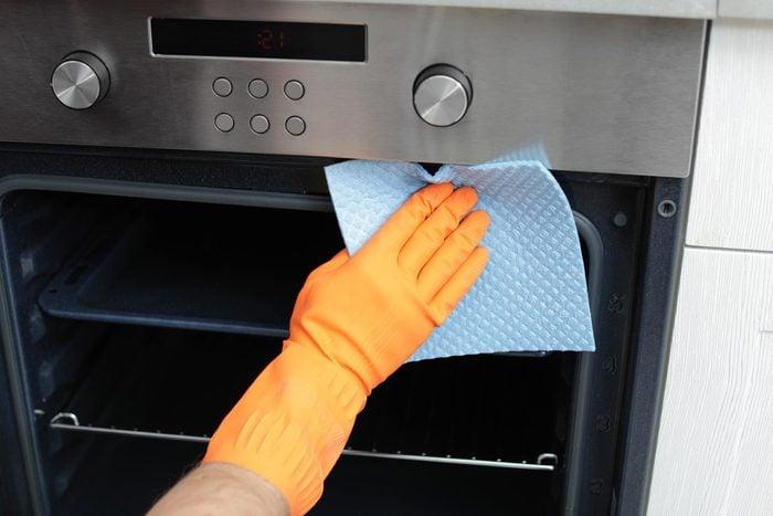 hand glove wipe oven