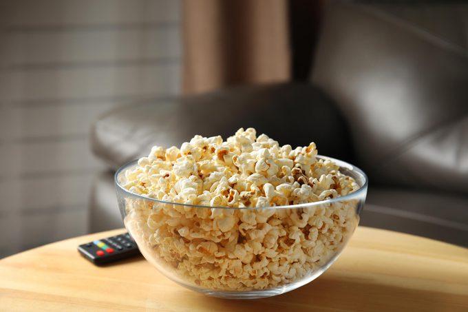 bowl of popcorn remote