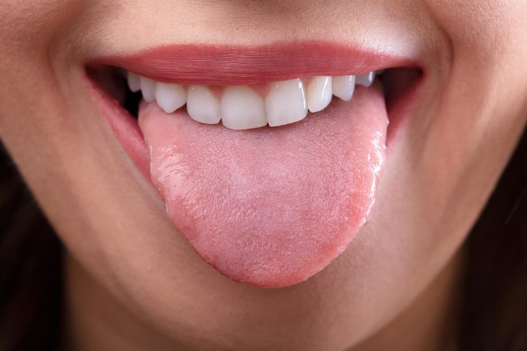 stick out tongue
