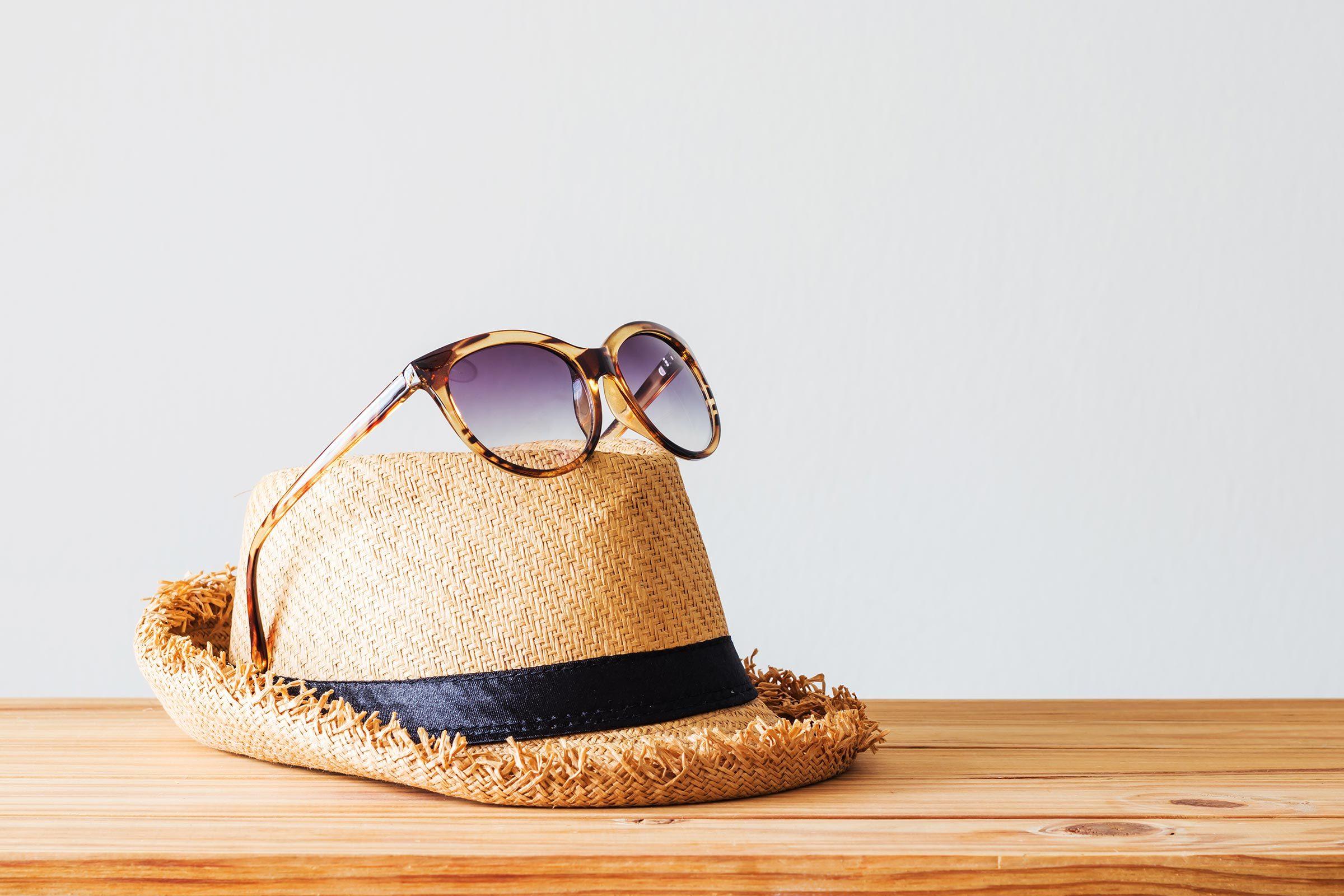 sunglasses sun hat