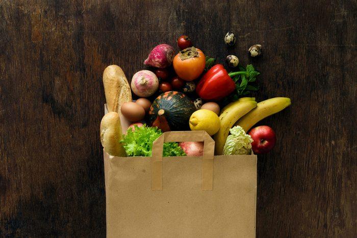grocery bag food