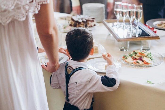 child food wedding