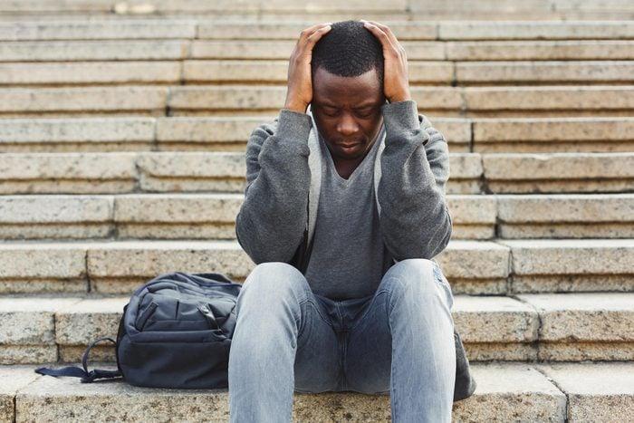 man stressed anxiety