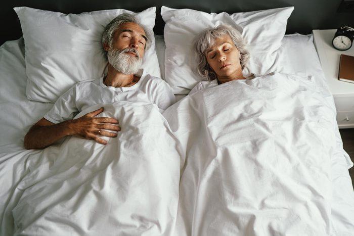 couple sleeping bed