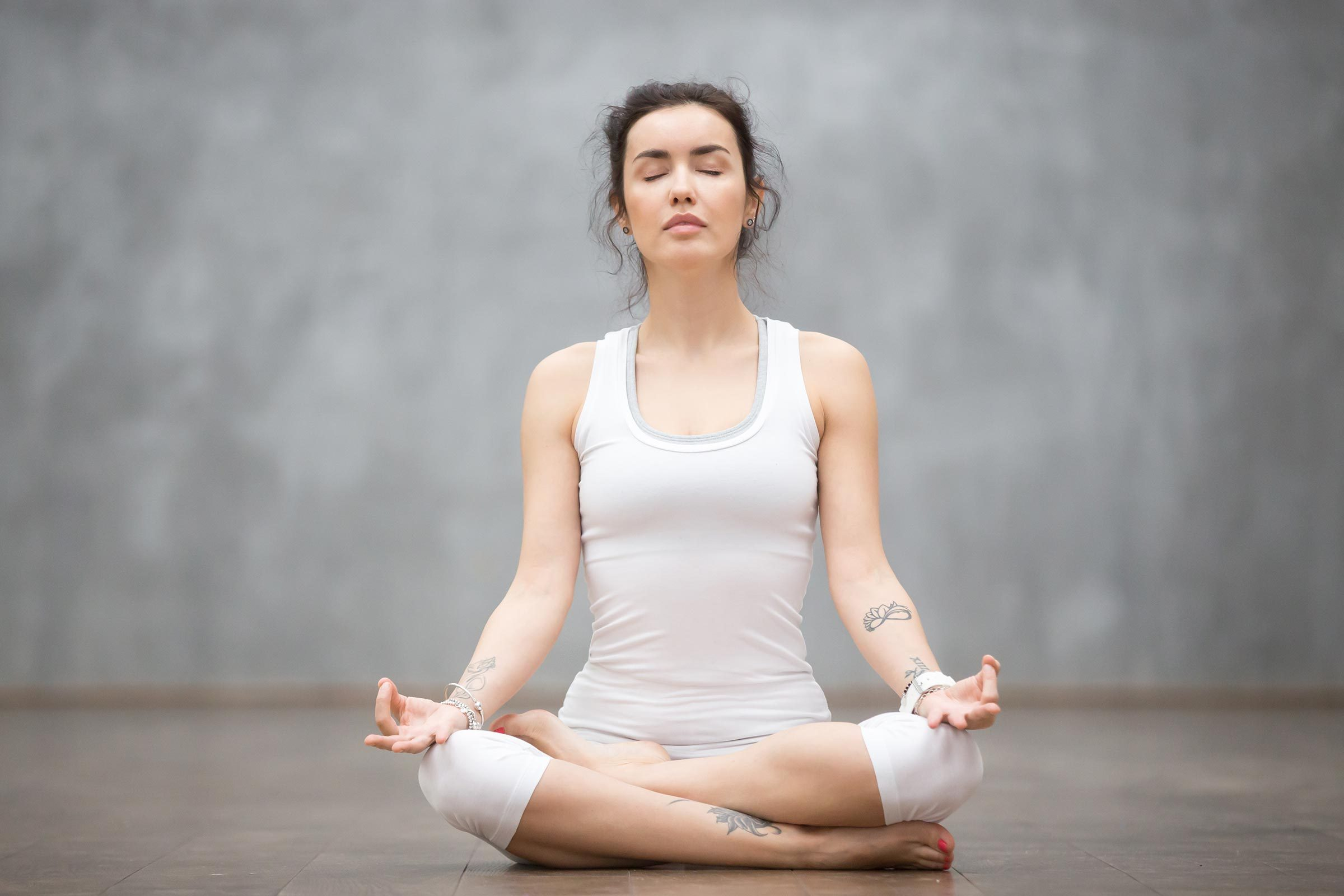 woman meditation relax