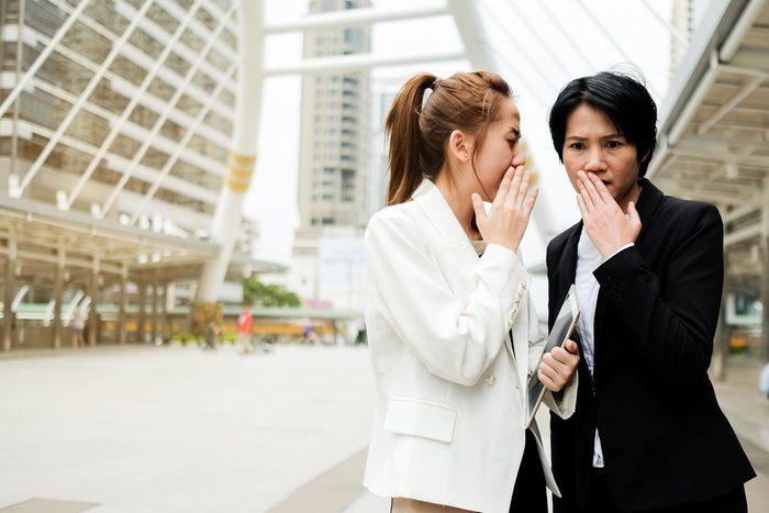 office gossip two women