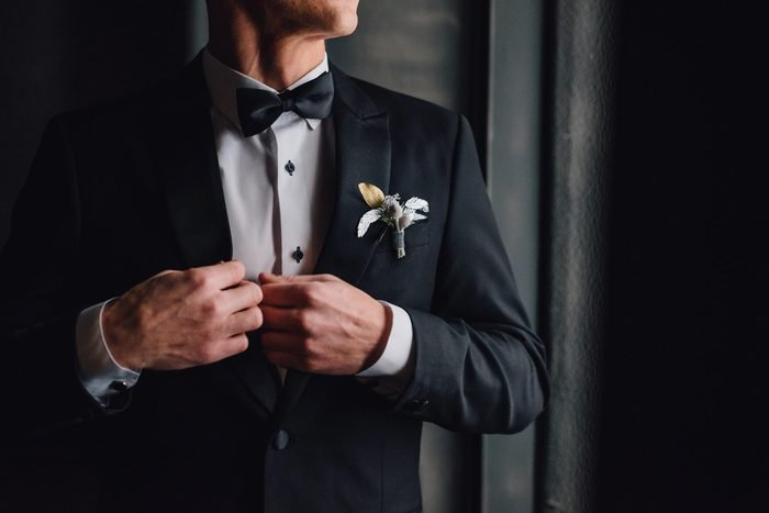 man tuxedo black suit