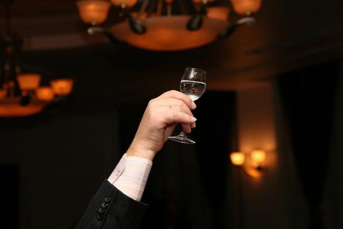 raise glass toast