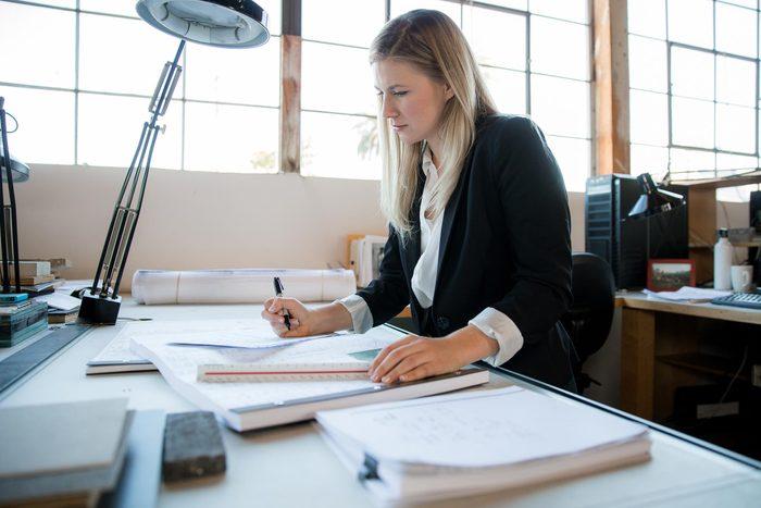 woman job desk