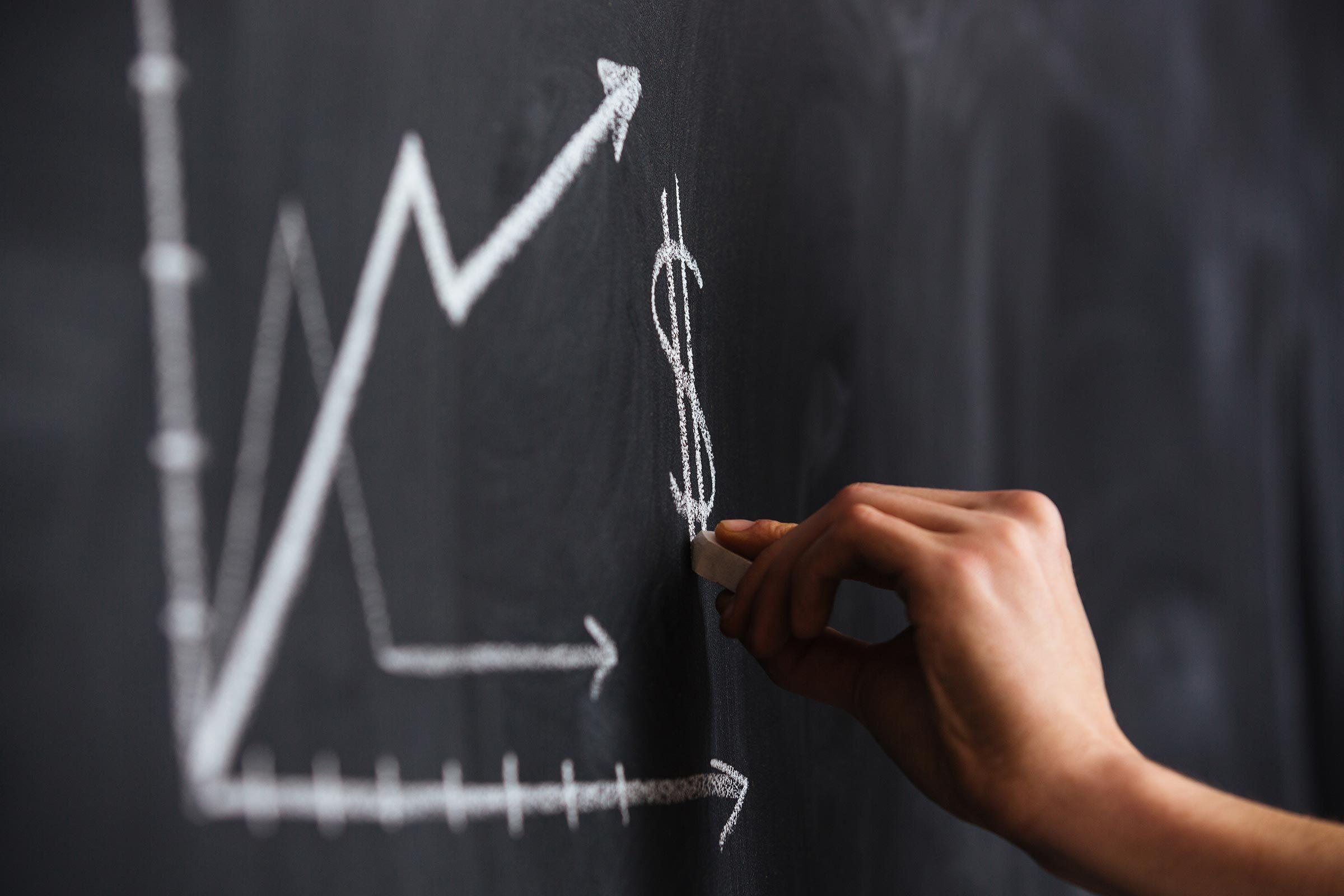 chalk graph chart increase