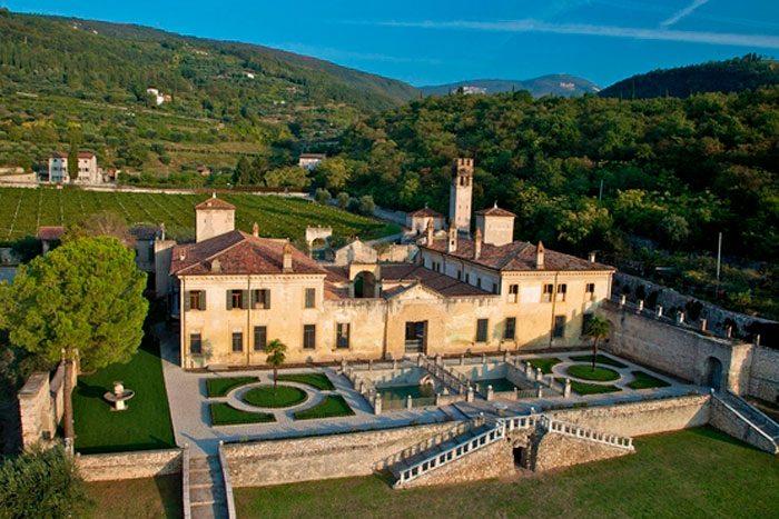 aerial view of Villa Della Torre Allegrini, Valpolicella, Italy