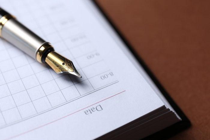 write planner date
