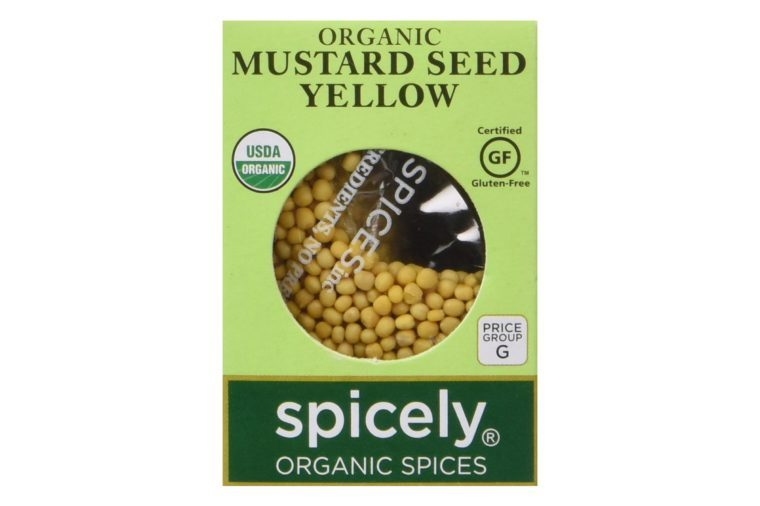 SPICELY Organic Yellow Mustard Seeds, 0.45 OZ