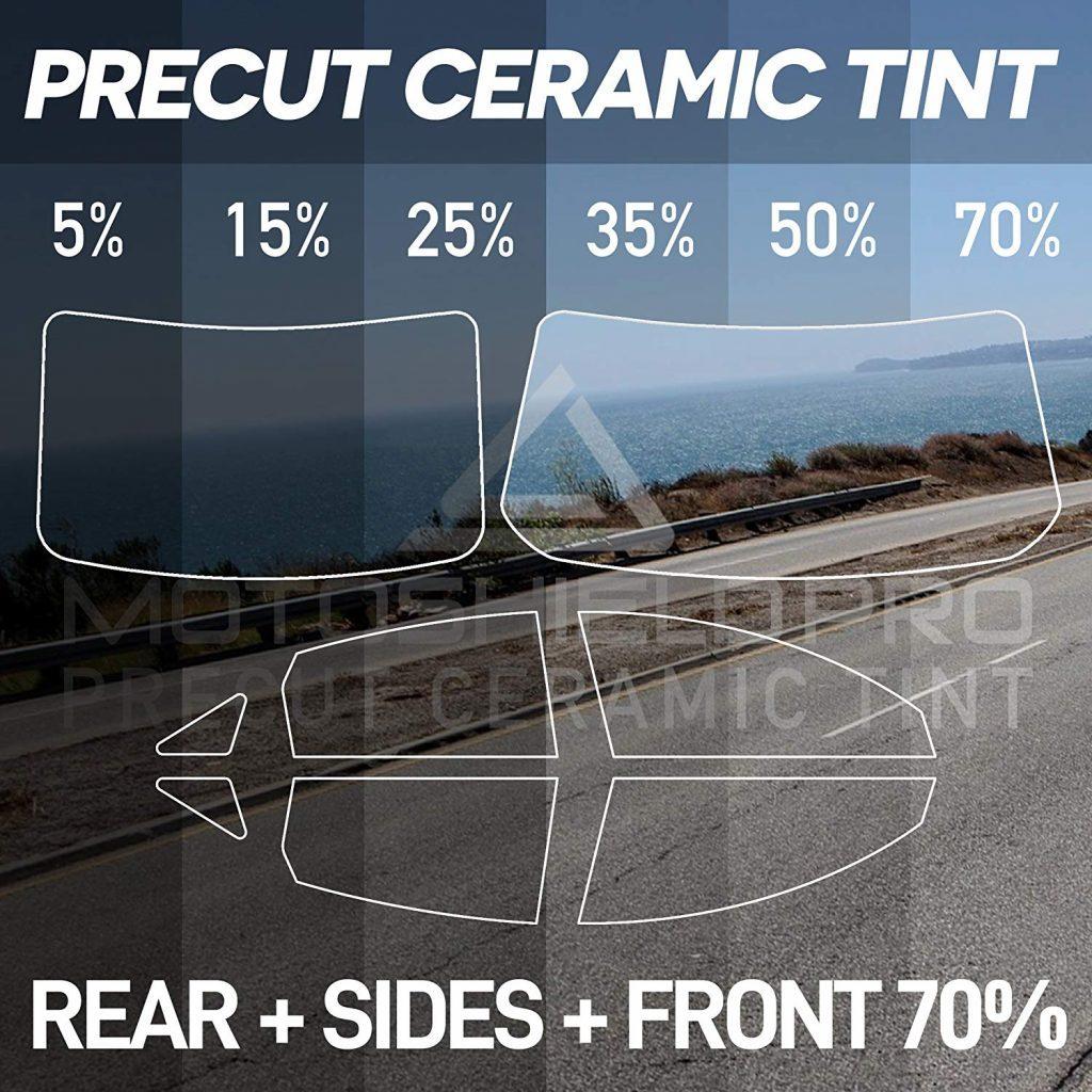 MotoShield Pro PreCut Ceramic Tint Film All Windows Any Shade [Sedan/Coupe Only] [Blocks Up to 99% of UV/IRR Rays]