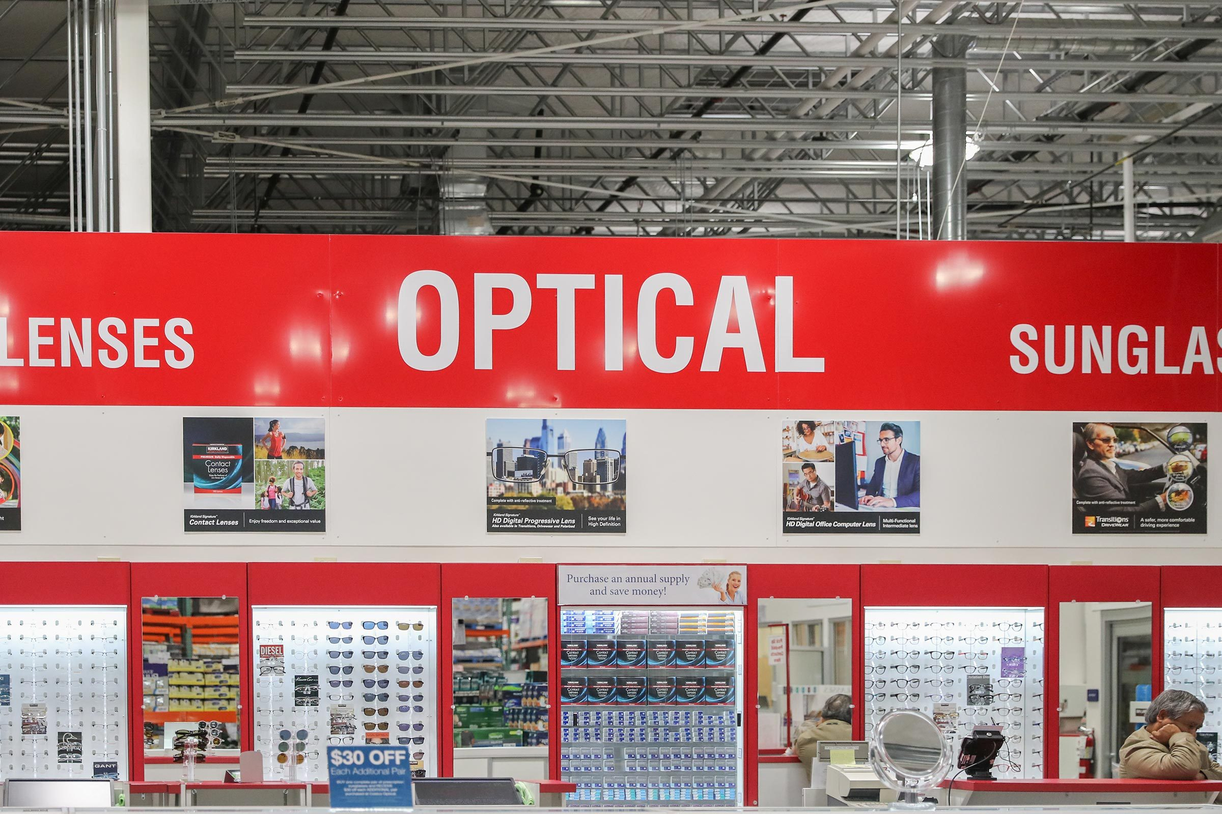 optical costco glasses